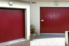 Rénovation  - Porte de garage à ouverture latérale