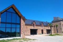 Rénovation - verrière avec vitrage de contrôle solaire